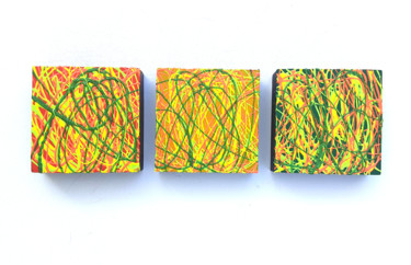 """Painting titled """"Triptych Abstract C…"""" by Anthony Saldivar, Original Art, Acrylic"""