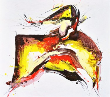 """Painting titled """"Dream to fly"""" by Anton Rakun, Original Art, Acrylic Mounted on Stretcher frame"""