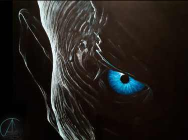 """Painting titled """"The Night King"""" by Antonio Bagia, Original Art, Acrylic"""