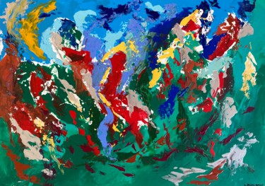 """Painting titled """"Libération Prolongée"""" by A.Pages-Bailly, Original Art, Acrylic"""