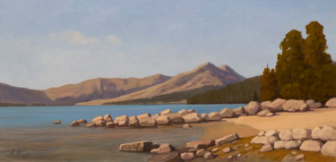 """Painting titled """"On the shore"""" by Andrey Pingachev, Original Art, Oil"""