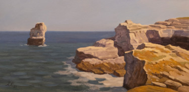 """Painting titled """"Rocky shore"""" by Andrey Pingachev, Original Art, Oil"""