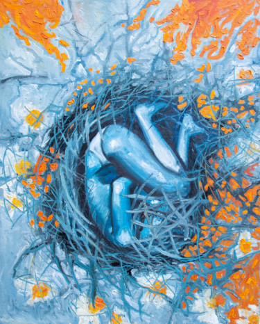 """Painting titled """"The nest"""" by Beybuka, Original Art, Oil"""