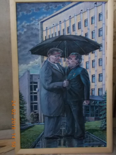 """Painting titled """"The two party leade…"""" by Artyom Ukhov, Original Art, Acrylic"""