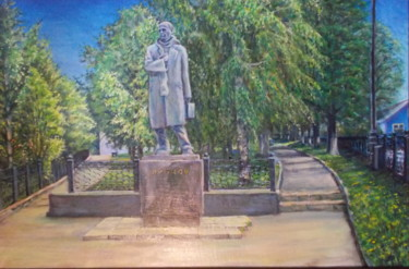 """Painting titled """"The monument of poe…"""" by Artyom Ukhov, Original Art, Oil"""