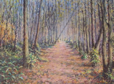 """Painting titled """"In the autumn park"""" by Artyom Ukhov, Original Art, Acrylic"""