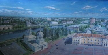 """Painting titled """"Vologda town"""" by Artyom Ukhov, Original Art, Oil"""