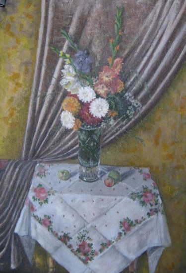 """Painting titled """"Autumnal bouquet"""" by Artyom Ukhov, Original Art, Oil"""