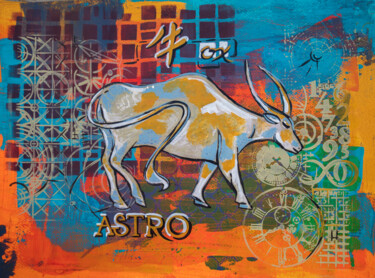 """Painting titled """"Ox 2021 year, zodia…"""" by Ariadna De Raadt, Original Art, Acrylic"""