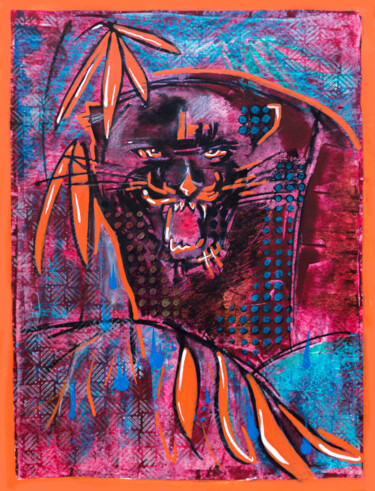 """Painting titled """"Black Panther"""" by Ariadna De Raadt, Original Art, Acrylic"""