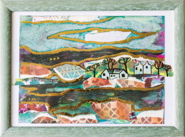 Countryside Painting, acrylic, naive art, artwork by Ariadna De Raadt