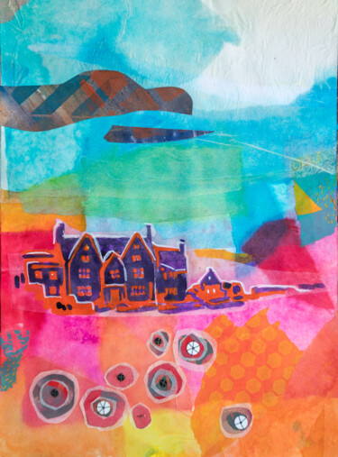 Countryside Painting, collages, abstract, artwork by Ariadna De Raadt