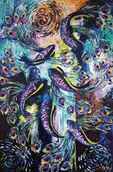 Fish Painting, oil, conceptual art, artwork by Arielle Rosin