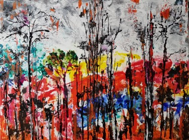 Painting, acrylic, expressionism, artwork by Arielle Rosin