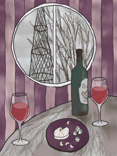 """Printmaking titled """"Hyperboloid in the…"""" by Arina Qqshkina, Original Art, Digital Painting"""