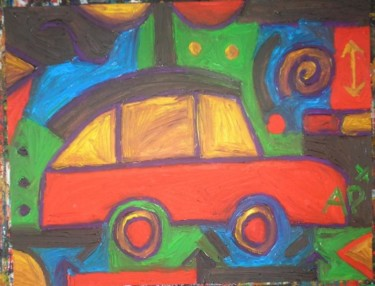 """Painting titled """"voiture"""" by Andy Pilgrimm, Original Art,"""