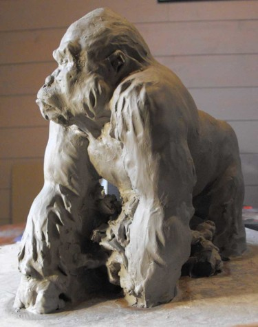 Sculpture, clay, artwork by Christian Arnould