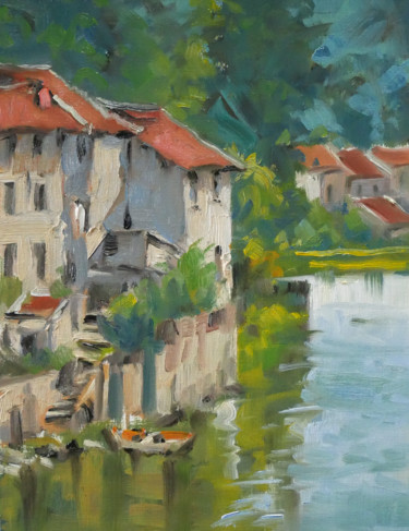 """Painting titled """"Reflets (huile sur…"""" by Christian Arnould, Original Art, Oil"""