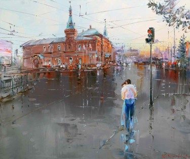 """Painting titled """"At Dawn"""" by Sergey Demidenko, Original Art, Oil Mounted on Stretcher frame"""