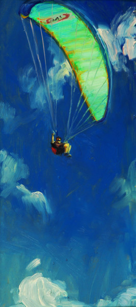 """Painting titled """"AT THE ALTITUDE OF…"""" by Vladimir Grigoryan, Original Art, Oil"""
