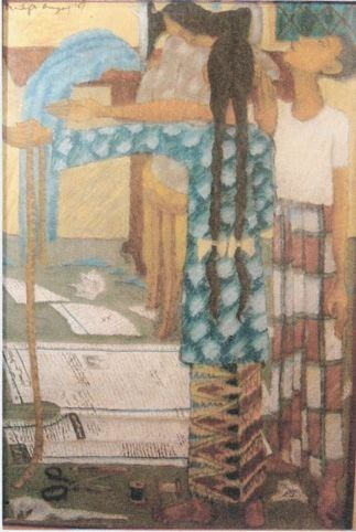 39.5x26.5 in ©1967 by Art Malaysian Paintings Sold