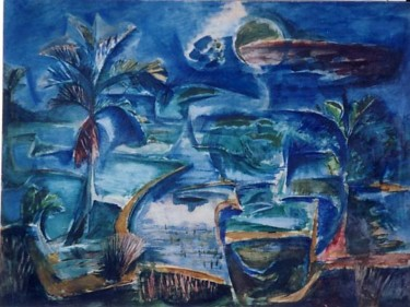 35.4x47.2 in ©1958 by Art Malaysian Paintings Sold