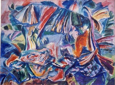 35.8x48 in ©1957 by Art Malaysian Paintings Sold