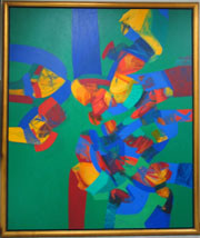72x60 in ©1995 by Art Malaysian Paintings Sold