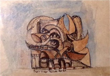 6.3x8.5 in ©1965 by Art Malaysian Paintings Sold