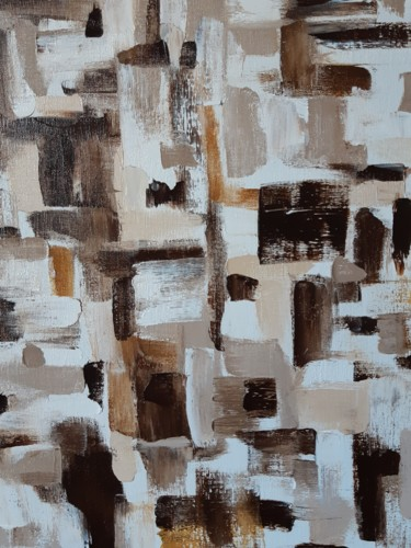 """Painting titled """"Shades of coffee"""" by Helen Kushcheva, Original Art, Oil"""