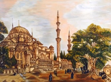 """Painting titled """"istanbul-suleymaniy…"""" by art-vhe, Original Art, Gouache"""
