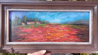 """Painting titled """"Red poppies filed"""" by Natalia Oelofse, Original Art, Oil"""