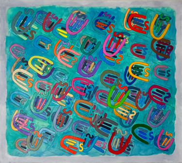 """Painting titled """"Transponder"""" by Don Perley, Original Art, Acrylic Mounted on Wood Panel"""