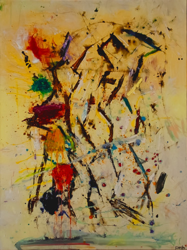 Color Painting, oil, abstract, artwork by Don Perley