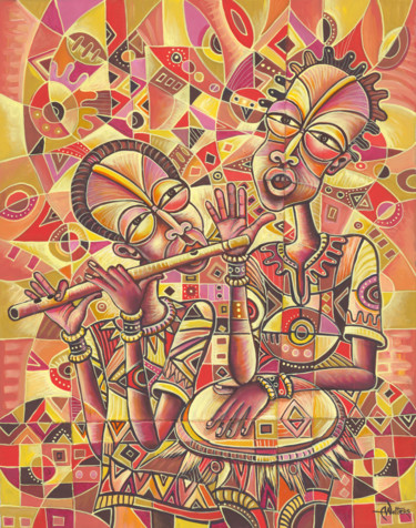 Musicians Painting, acrylic, figurative, artwork by Angu Walters