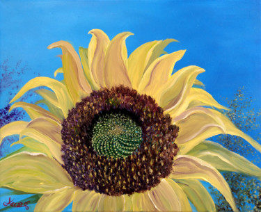 """Painting titled """"Girasole 2"""" by Accarò, Original Art, Oil"""