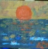 """Painting titled """"tramonto impression…"""" by Noir, Original Art,"""