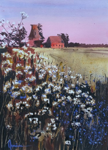 """Painting titled """"Old Holland"""" by Artem Pavlyukov, Original Art, Watercolor"""