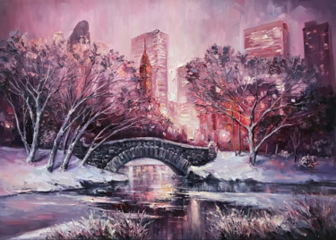 """Painting titled """"""""New York Central p…"""" by Artem Grunyka, Original Art, Oil"""