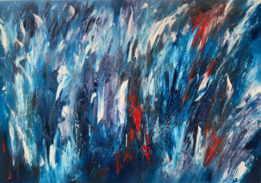 """Painting titled """"Wave rays"""" by Artem Grunyka, Original Art, Oil"""