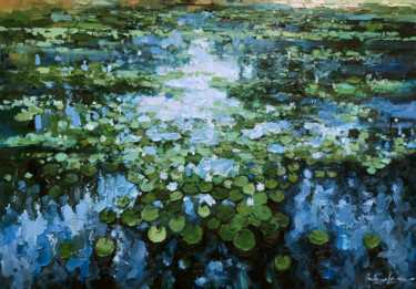 """Painting titled """"""""Water-Lilies pond""""…"""" by Artem Grunyka, Original Art, Oil"""