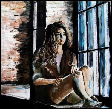 """Painting titled """"Le silence"""" by Lanto R, Original Art, Oil"""