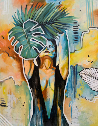 """Painting titled """"LET YOURSELF BE -…"""" by Valeria Amirkhanyan, Original Art, Oil"""