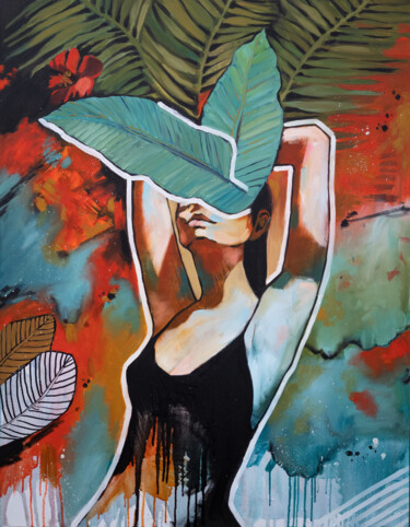 """Painting titled """"KNOW YOURSELF - tro…"""" by Valeria Amirkhanyan, Original Art, Oil"""