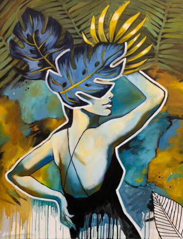 """Painting titled """"ASK YOURSELF - colo…"""" by Valeria Amirkhanyan, Original Art, Oil"""