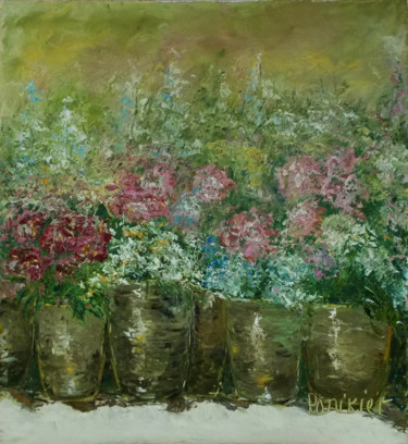 Flower Painting, oil, impressionism, artwork by Alla Preobrazhenska-Ronikier