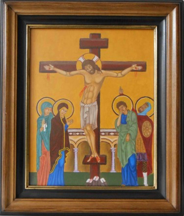 """Painting titled """"Icon"""" by Arthur Is, Original Art, Oil"""