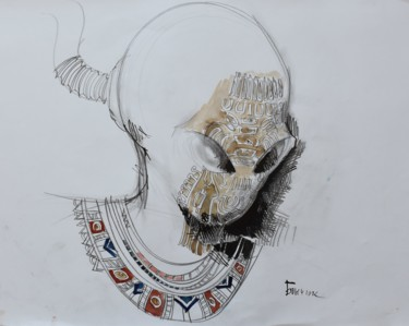 """Painting titled """"Series """"Foreign Inv…"""" by Roman Bonchuk, Original Art, Ink"""