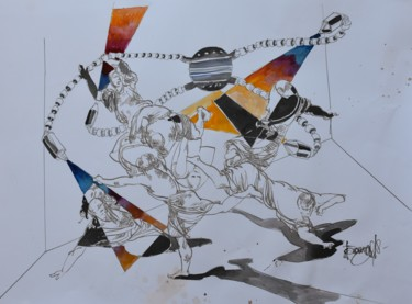 """Painting titled """"Rise of the wild co…"""" by Roman Bonchuk, Original Art, Ink"""