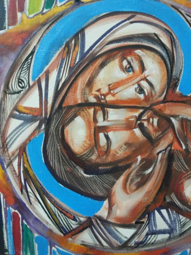 """Painting titled """"2.Crying for Christ"""" by Roman Bonchuk, Original Art, Acrylic"""